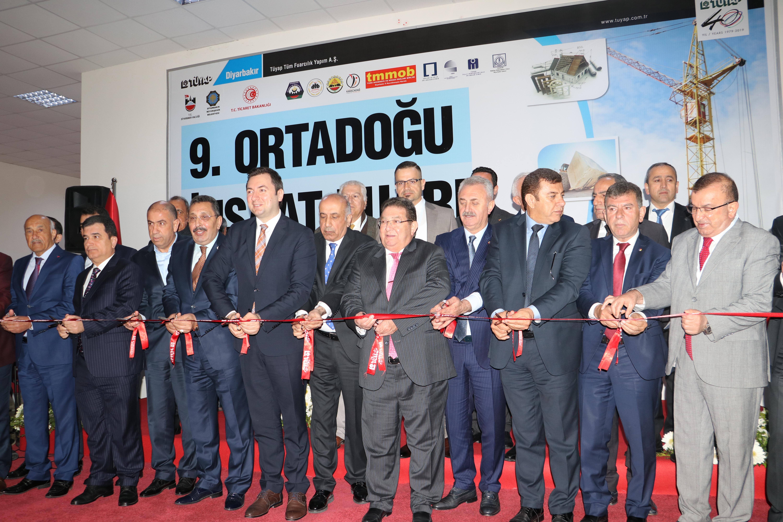 9 uncu Ortadoğu İnşaat Fuarı Diyarbakır da Açıldı