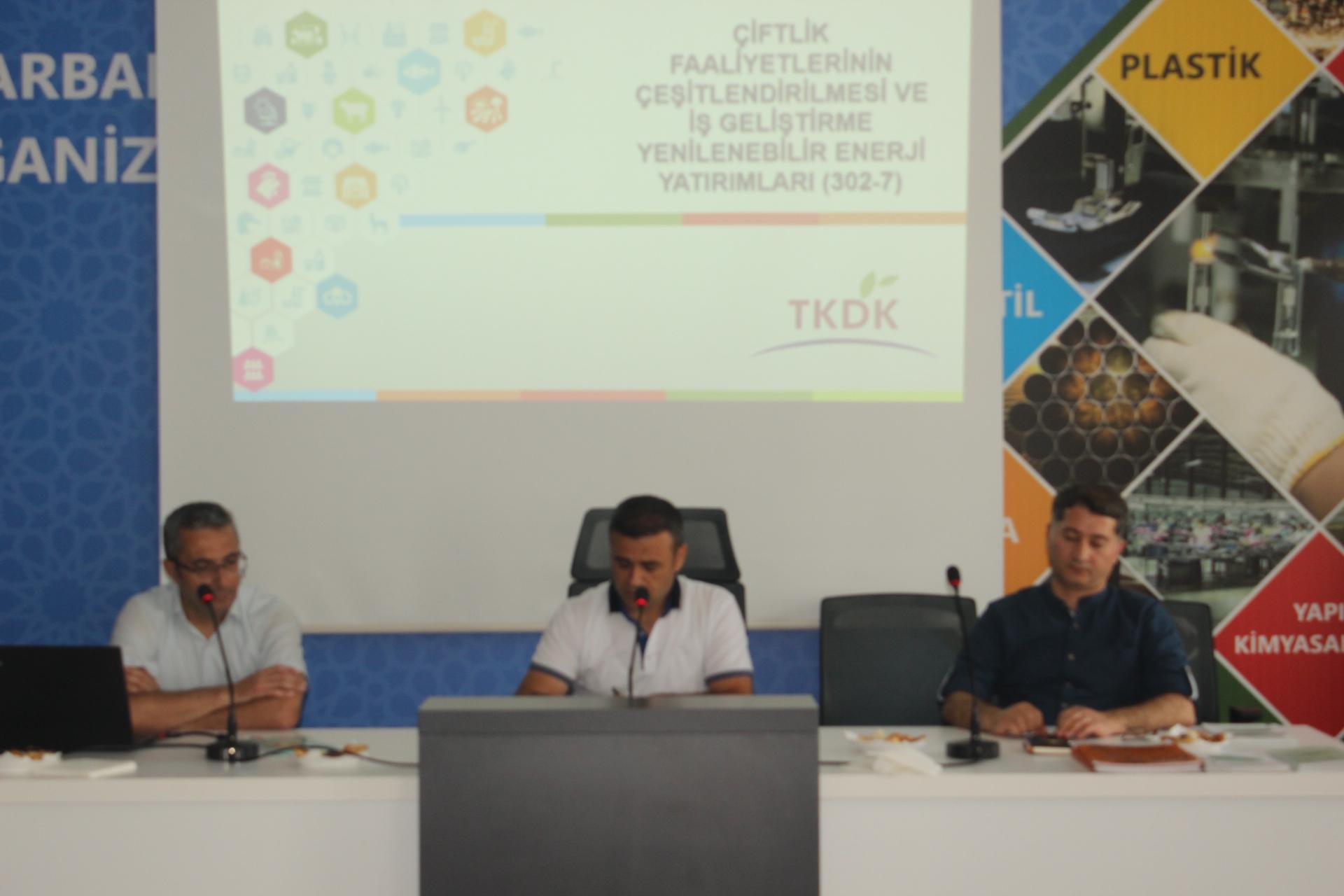 OSB de 'Yenilenebilir Enerji Yatırımları Bilgilendirme Toplantısı ' yapıldı.